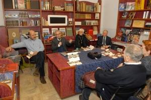 Da sinistra l'attore cinematografico Roberto Sbaratto, Alessandra Comazzi ed Enrico De Maria