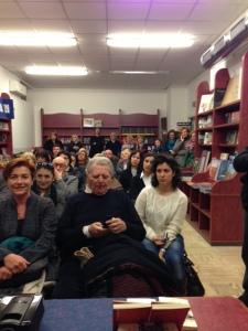 La sala conferenze della libreria Mondadori