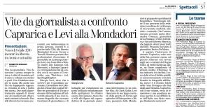 La Stampa, presentazione della serata alla libreria Mondadori di Vercelli.