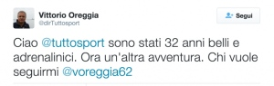 tweet oreggia