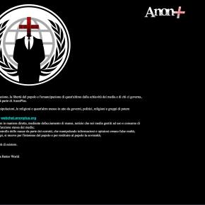 Gli hacker attaccano il sito dell'Ordine dei giornalisti del Piemonte. Firmato AnonPlus, il social diAnonymous