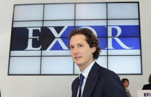 John Elkann durante l'assemblea degli azionisti di Exor, la holding del gruppo, nel Fiat Industrial Village, Torino, 30 maggio 2013.  ANSA/ ALESSANDRO DI MARCO