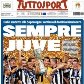 Sorpresa Tuttosport. E' l'unico quotidiano italiano che aumenta le vendite in versione cartacea+digitale