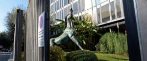 11/12/2014 Roma. Sede Centrale di Viale Mazzini. Nella foto il cavallo simbolo della Rai