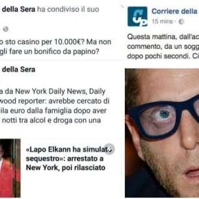 """""""Che cazzo, tutto sto' casino per 10 mila euro"""". Al social media manager del Corriere scappa il post su Facebook. E su Lapo Elkann scrive quello chepensa"""