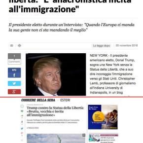 Il Trappolone del Fake. Ci cascano Repubblica, che chiede scusa ai lettori. E il Corriere, che cancellabrutalmente
