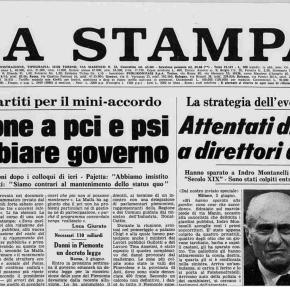 Quando Montanelli venne ferito e Ottone non riportò il suo nome sulla prima pagina del Corriere della Sera. Che cosa scrisse Levi su LaStampa