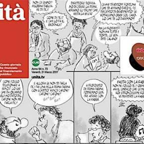 """Dopo la prima pagina a fumetti dell'Unità redazione in rivolta: """"Staino, non ci hai fatto ridere"""". E il direttore si dimette: """"Ora sonocostretto"""""""