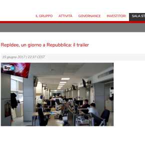 Un giorno a Repubblica. Gedi affida a Neri Marcorè il trailer di una giornata in redazione. Con Calabresi eScalfari