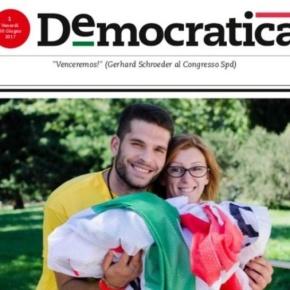 Democratica, 8 pagine e una fotona di Renzi. In allegato il primonumero