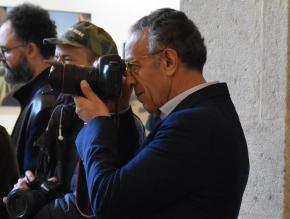 """Burhan Ozbilici (Ap), vincitore del World Press Photo 2017 a Video Times: """"Un buon giornalista deve anche avere coraggio""""."""