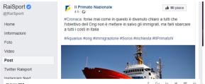 Che casino Rai Sport. Per un'ora il sito condivide un post di CasaPound sui migranti. Pieno di errori e notizie non verificate. Poi viale Mazzini siscusa