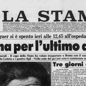 L'articolo capolavoro di Lietta Tornabuoni, inviata de La Stampa, ai funerali di EnricoBerlinguer