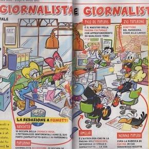 """Zio Paperone al Papersera come  Cairo. Braccino corto e lavorare. Oggi """"Topolino"""" in edicola con un numero speciale dedicato algiornalismo"""