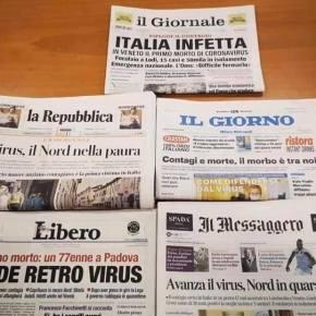 Gli agenti di viaggio querelano 5 quotidiani italiani: procurato allarme sociale sulla vicenda delcoronavirus