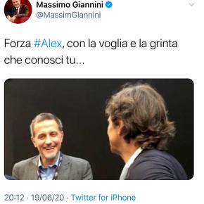 Massimo Giannini il Narcisista twitta ad Alex Zanardi e i social demoliscono il direttore dellaStampa