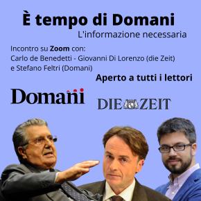 """Carlo De Benedetti si presenta, via Zoom, agli abbonati di """"Domani"""""""