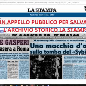 Appello per salvare l'Archivio Storico della Stampa. Ecco le prime 76 firme. L'adesione del Comitato Scientifico del Centro Studi GinoPestelli