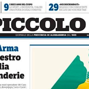 Il Corriere da oggi, e ogni venerdì, abbinato a Il Piccolo diAlessandria